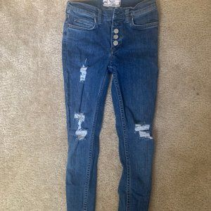 Free People Skinny Jeans - High Waisted